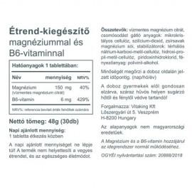 Vitaking Magnézium + B6-vitamin - 30db