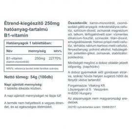 Vitaking B1-Vitamin 250mg - 100db