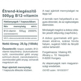Vitaking B12-vitamin - 100db