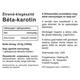 Vitaking Béta Karotin 15mg - 100db