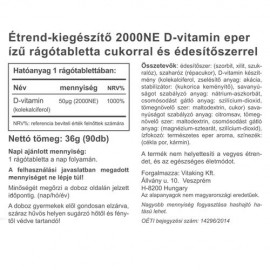Vitaking D3-vitamin 2000NE rágótabletta - 90db