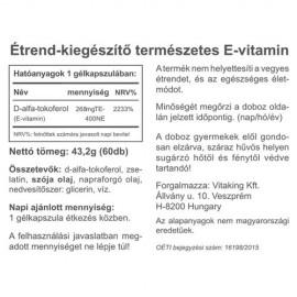 Vitaking E-vitamin 400NE - 60db