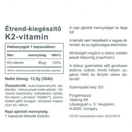 Vitaking Vitamin K2 90mcg (30db)