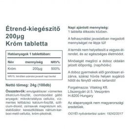 Vitaking Króm pikolinát 200mg - 100db