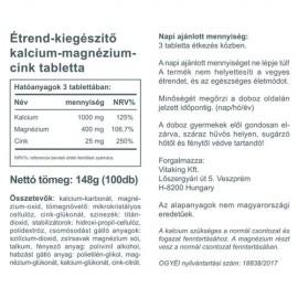 Vitaking Calcium+Magnesium+Zinc - 100db