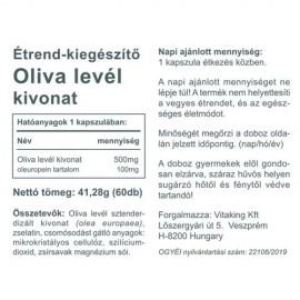 Vitaking Olivalevél kivonat kapszula - 60 db