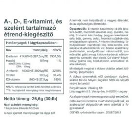 Vitaking A+D+E plus szelén komplex 30 db