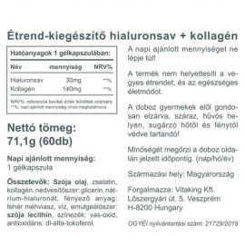 Vitaking Hialuronsav + Kollagén komplex - 60 db