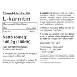 Vitaking L-karnitin - 60 db