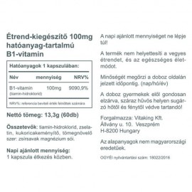 Vitaking B1 - 100mg - 60 db