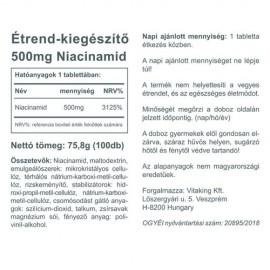 Vitaking Niacinamid (B3) - 500mg -100 db