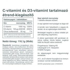 Vitaking C-1000mg és D 4000NE komplex - 90 db