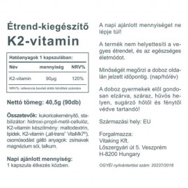 Vitaking Vitamin K2 90mcg (90db)