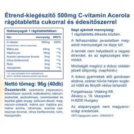 Vitaking Acerola epres C-500 - 40db